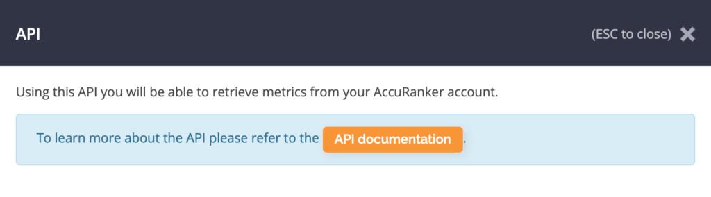 AccuRanker API