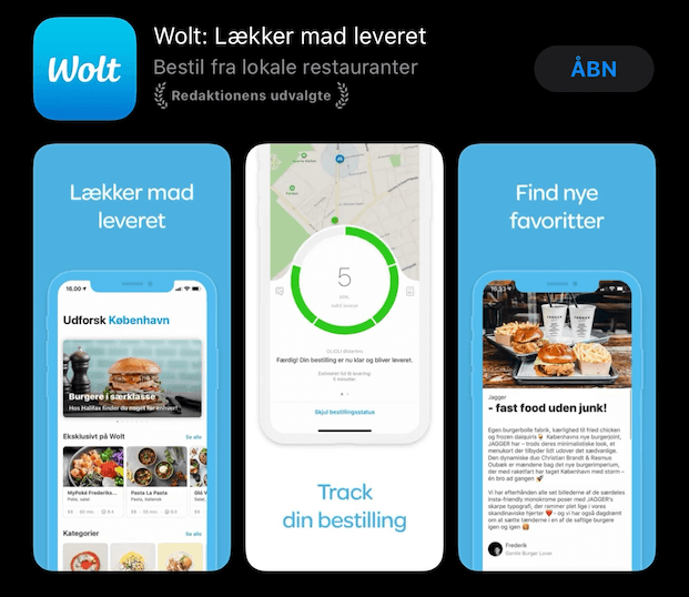 Download Wolt app